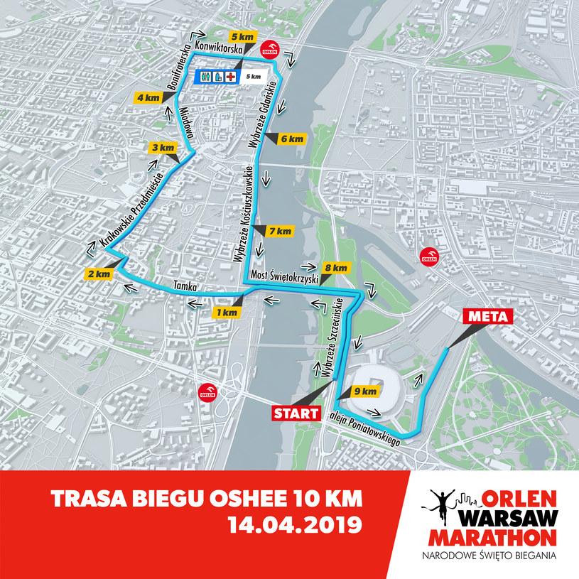 Trasa Biegu OSHEE 10 km /INTERIA.PL
