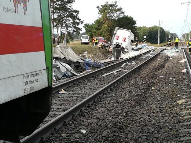 Trasa kolejowa jest zablokowana. /Piotr Bułakowski /RMF FM