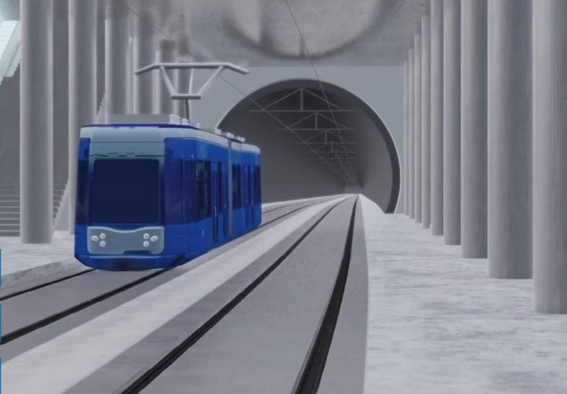 Trasa krakowskiego premetra ma w pewnej części przebiegać nowo wybudowanymi tunelami /Urząd Miasta Krakowa /Archiwum