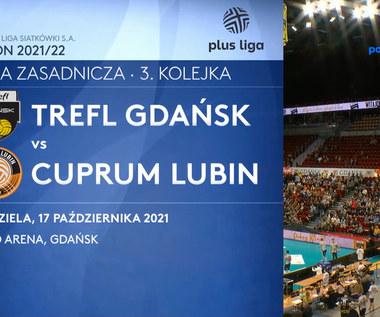 Trefl Gdańsk - Cuprum Lubin. SKRÓT. WIDEO (Polsat Sport)