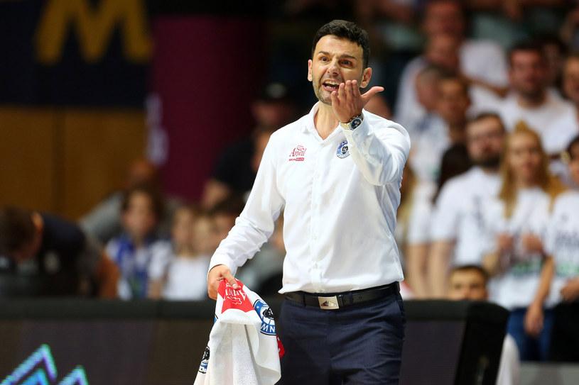 Trener Anwilu Igor Miličić /Fot. Piotr Matusewicz /East News