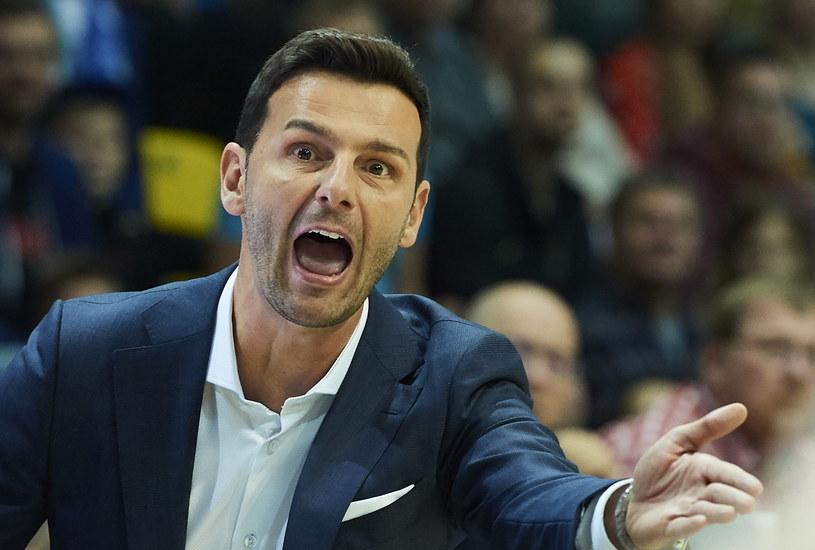 Trener Anwilu Włocławek Igor Milicić /Adam Warżawa /PAP
