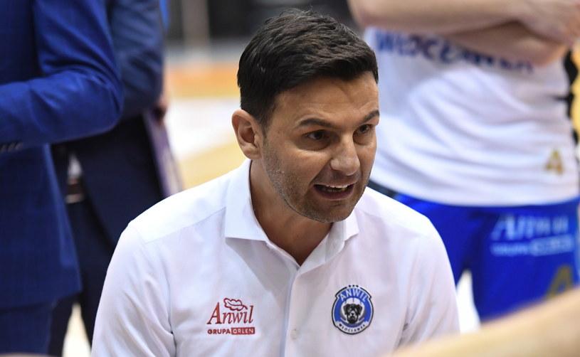 Trener Anwilu Włocławek Igor Milicić /Piotr Nowak /PAP