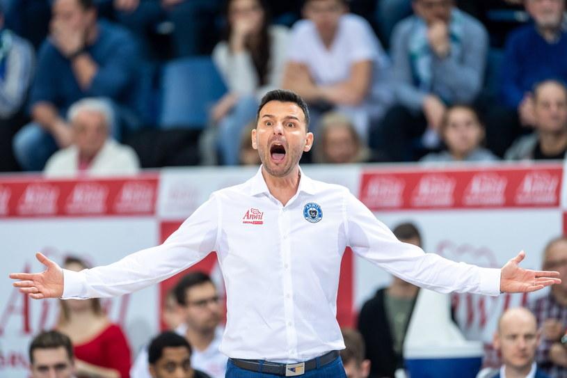 Trener Anwilu Włocławek Igor Miliczić /Tytus Żmijewski /PAP