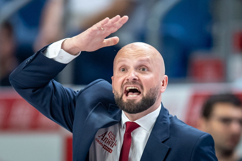 Trener Anwilu Włocławek Marcin Woźniak / Tytus Żmijewski    /PAP