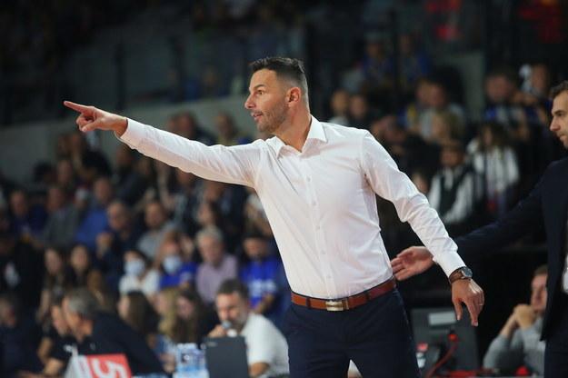 Trener Arged BM Stali Ostrów Wlkp. Igor Milicic podczas meczu 5. kolejki Ekstraklasy /Tomasz Wojtasik /PAP