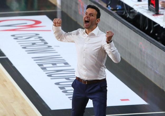 Trener Argedu BMSlam Stali Ostrów Wlkp. Igor Milicic /Tomasz Wojtasik /PAP