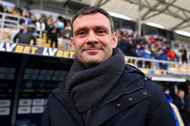 Trener Arki Gdynia Aleksandar Rogic /Marcin Gadomski /PAP