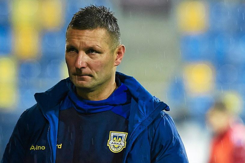 Trener Arki Gdynia Grzegorz Niciński /Fot. Jan Rusek /
