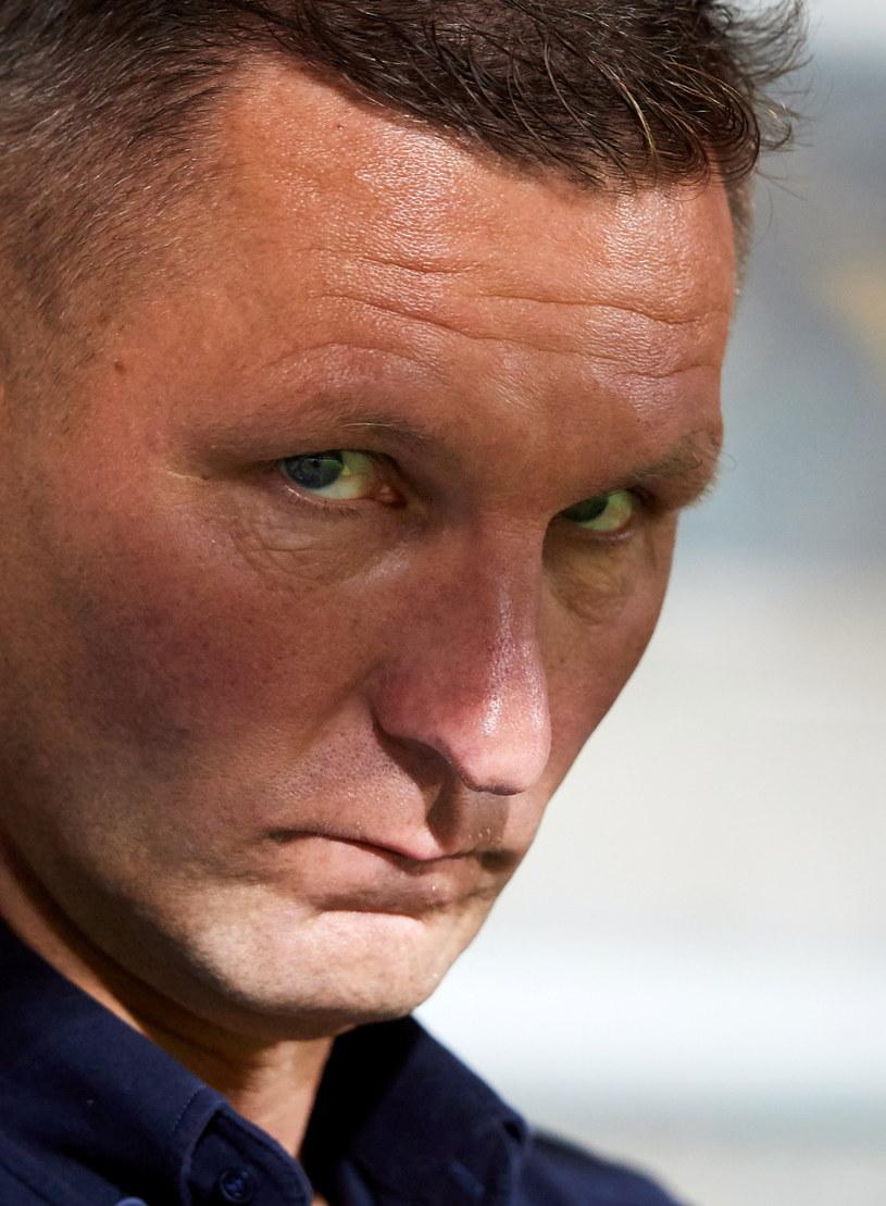 Trener Arki Gdynia Grzegorz Niciński /Fot. Adam Warżawa /PAP