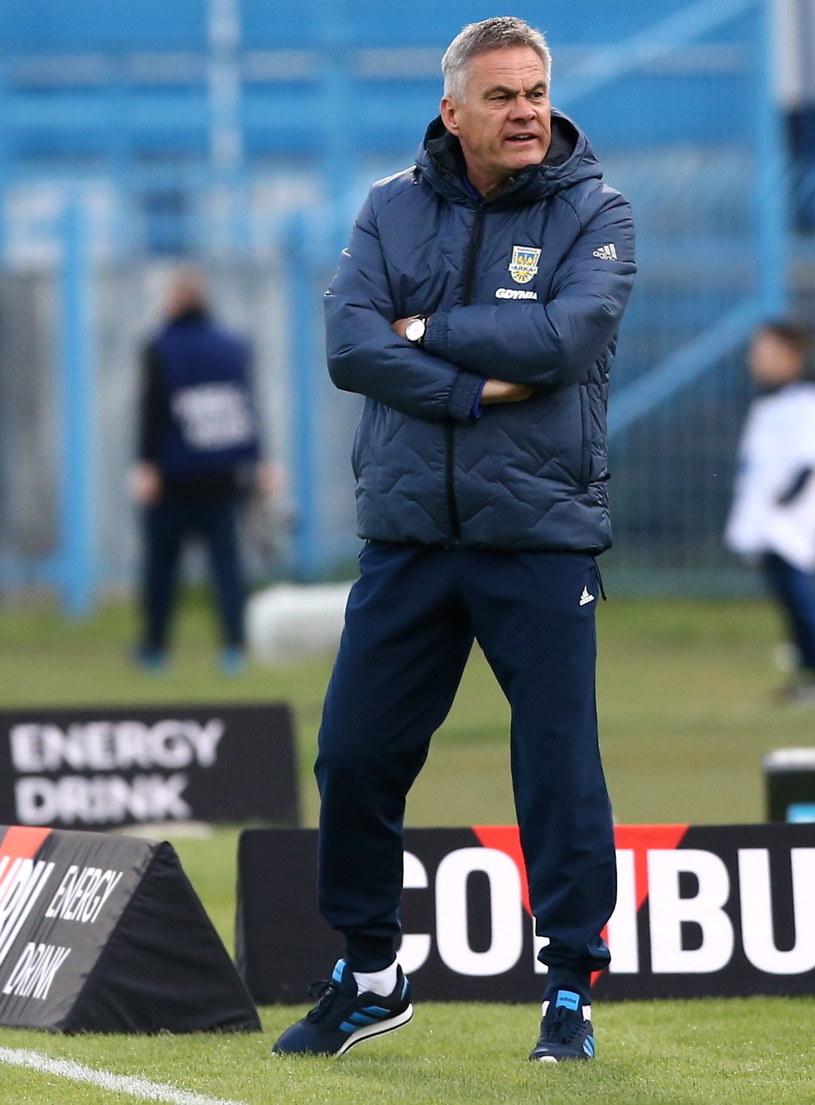 Trener Arki Gdynia Jacek Zieliński /Piotr Augustyniak /PAP