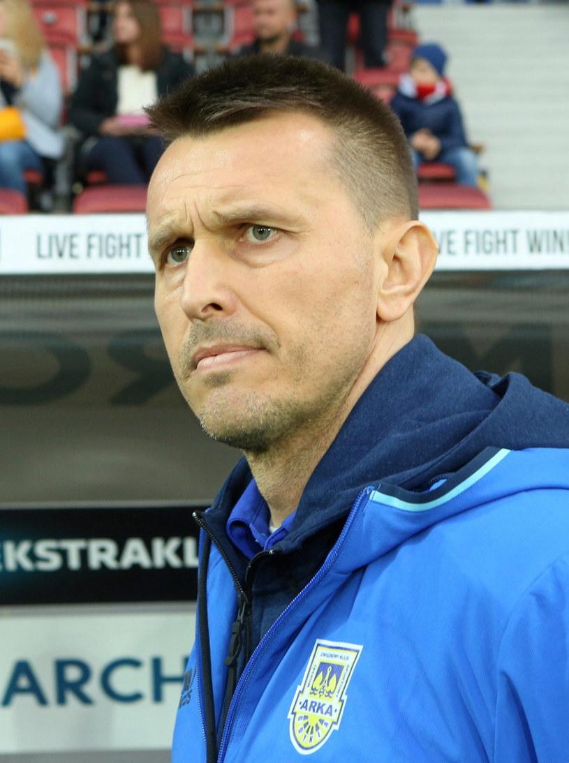 Trener Arki Gdynia Leszek Ojrzyński /Fot. Stanisław Rozpędzik /PAP