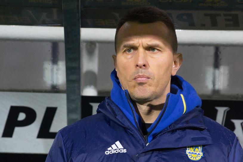 Trener Arki Gdynia Leszek Ojrzyński /Fot. Jan Dzban /PAP