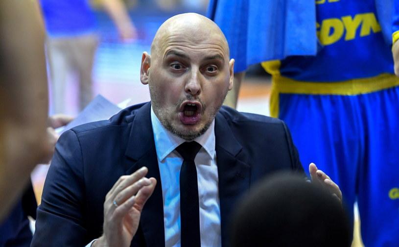 Trener Arki Gdynia Przemysław Frasunkiewicz /Piotr Nowak /PAP