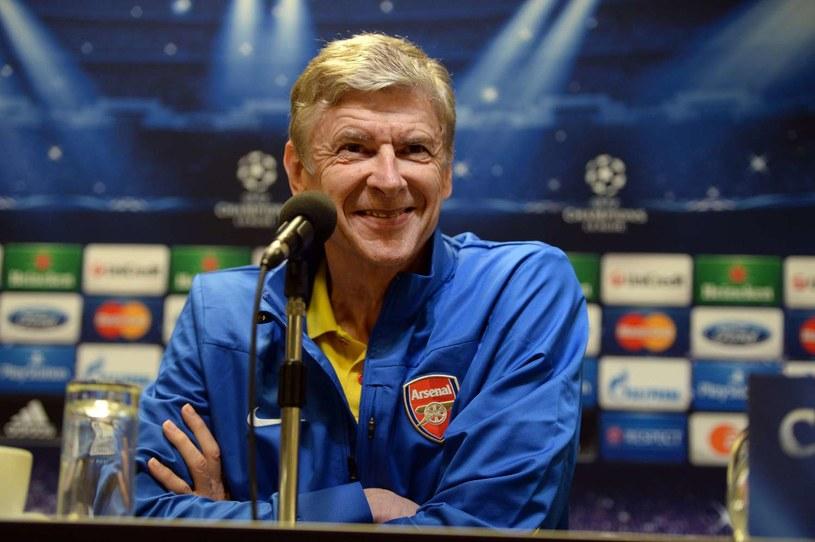 Trener Arsenalu Londyn Arsene Wenger wreszcie ma powody do zadowolenia /AFP
