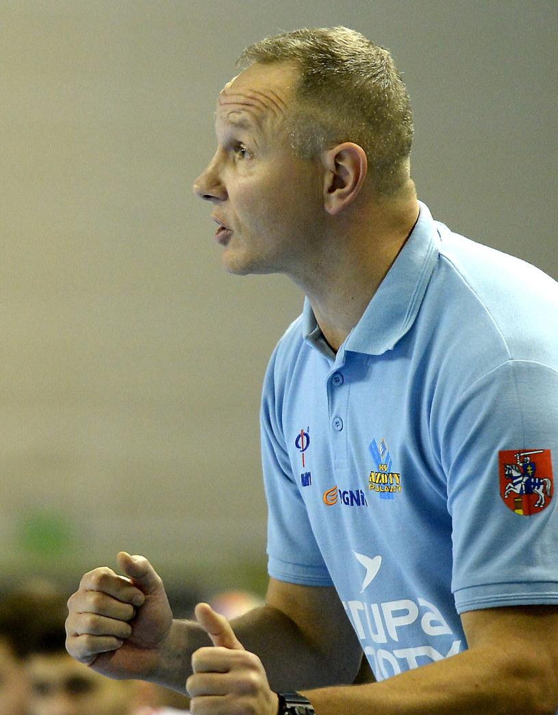 Trener Azotów Puławy Marcin Kurowski /Piotr Polak /PAP