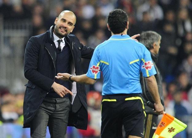 Trener Barcelony Pep Guardiola sugeruje, że sędziowie pomagają Realowi Madryt /AFP