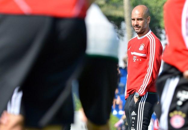 Trener Bayernu Monachium Josep Guardiola /EPA/PETER KNEFFEL /PAP