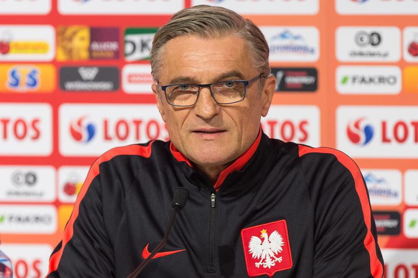 """Trener """"Biało-czerwonych"""" - Adam Nawałka /Maciej Kulczyński /PAP"""