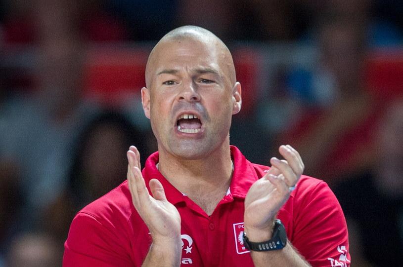 """Trener """"Biało-czerwonych"""" Mike Taylor /Tytus Żmijewski /PAP"""