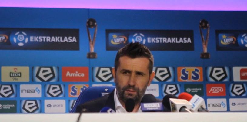 Trener Bjelica po porażce z Koroną 0-1. Wideo /Andrzej Grupa /INTERIA.TV