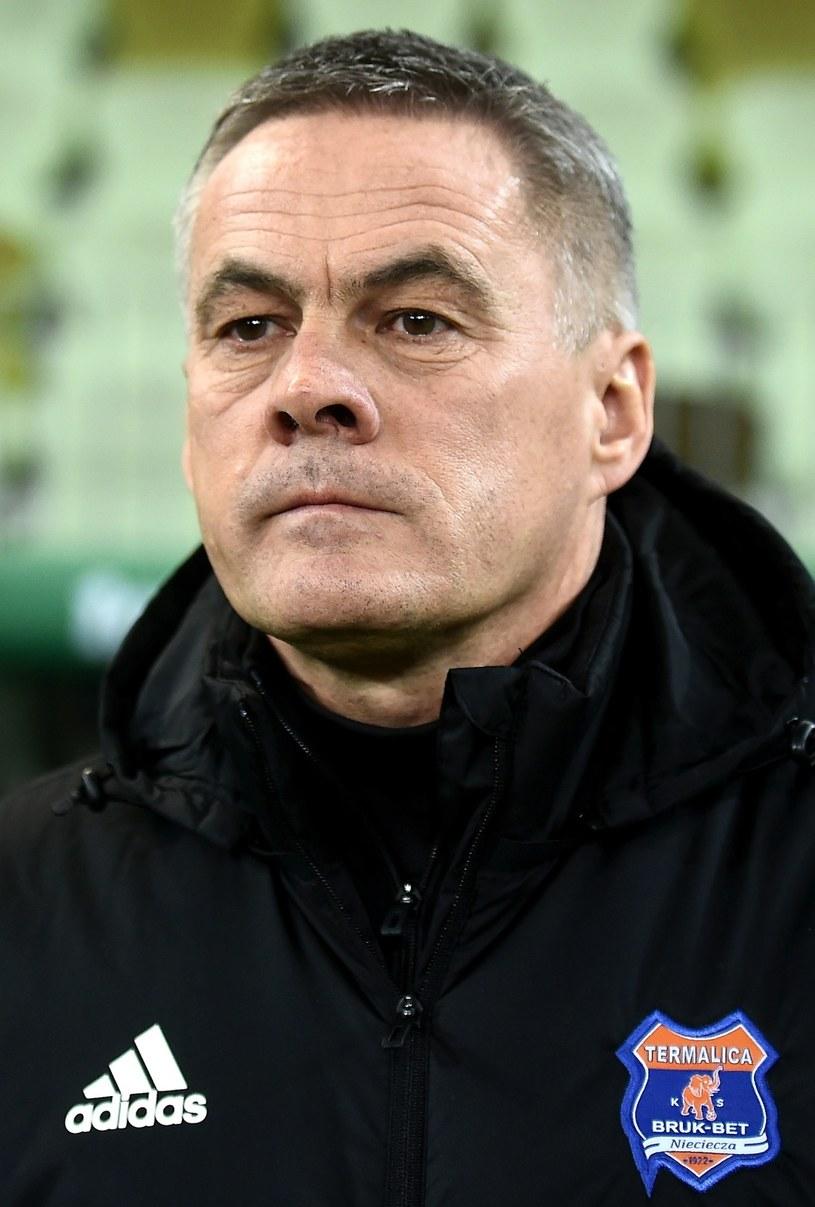 Trener Bruk-Bet Termaliki Nieciecza Jacek Zieliński /Jan Dzban /PAP