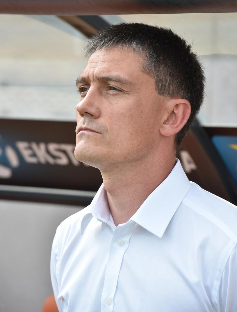 Trener Bruk-Betu Termaliki Mariusz Rumak. /Jacek Bednarczyk /PAP