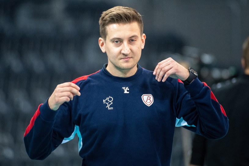 Trener Budowlanych Łódź Błażej Krzyształowicz /PAP/Grzegorz Michałowski /PAP
