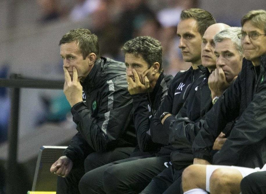 Trener Celtiku Glasgow Ronny Deila (z lewej) / Jeff Holmes  /PAP/EPA
