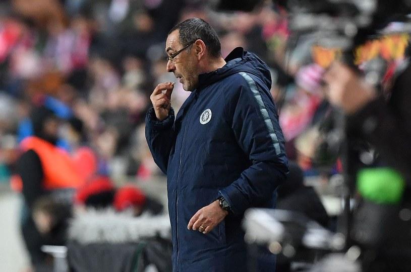 Trener Chelsea Maurizio Sarri /AFP