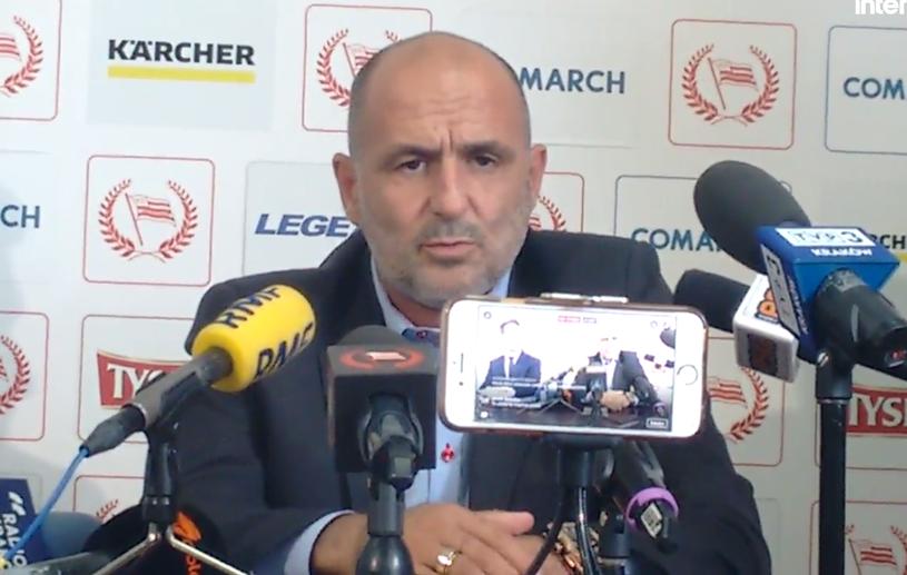 Trener Cracovii Michał Probierz /INTERIA.PL