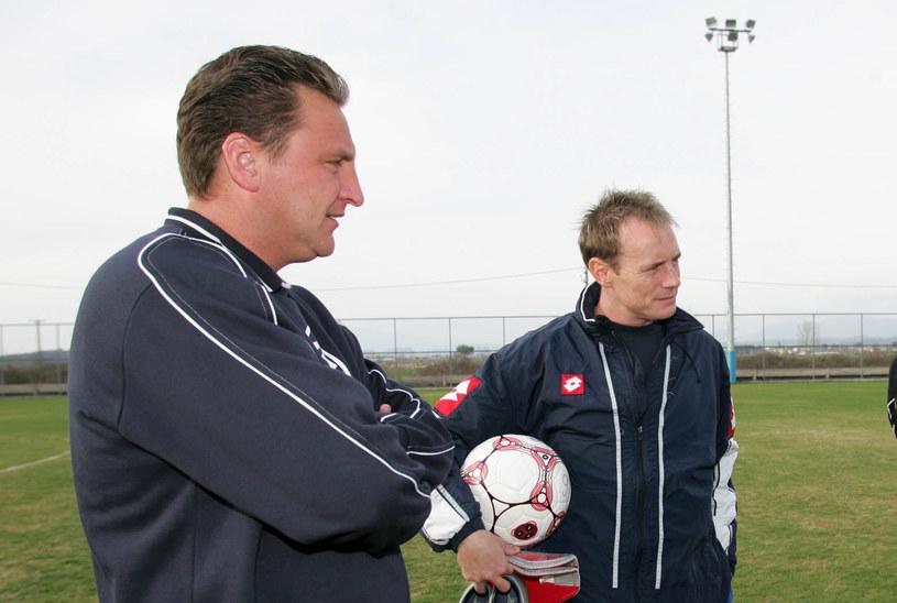Trener Czesław Michniewicz i Piotr Reiss w Lechu Poznań /LUKASZ GROCHALA/CYFRASPORT / NEWSPIX.PL /Newspix