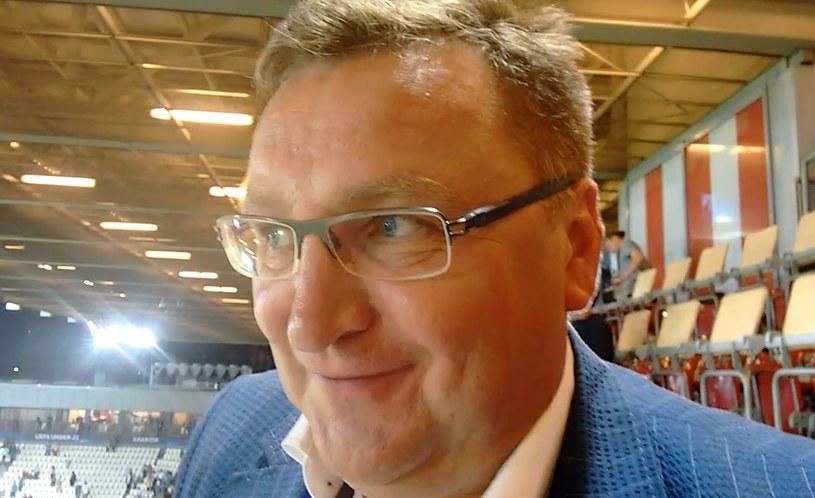 Trener Czesław Michniewicz. /INTERIA.PL