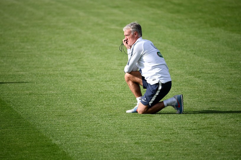 Trener Didier Deschamps /AFP