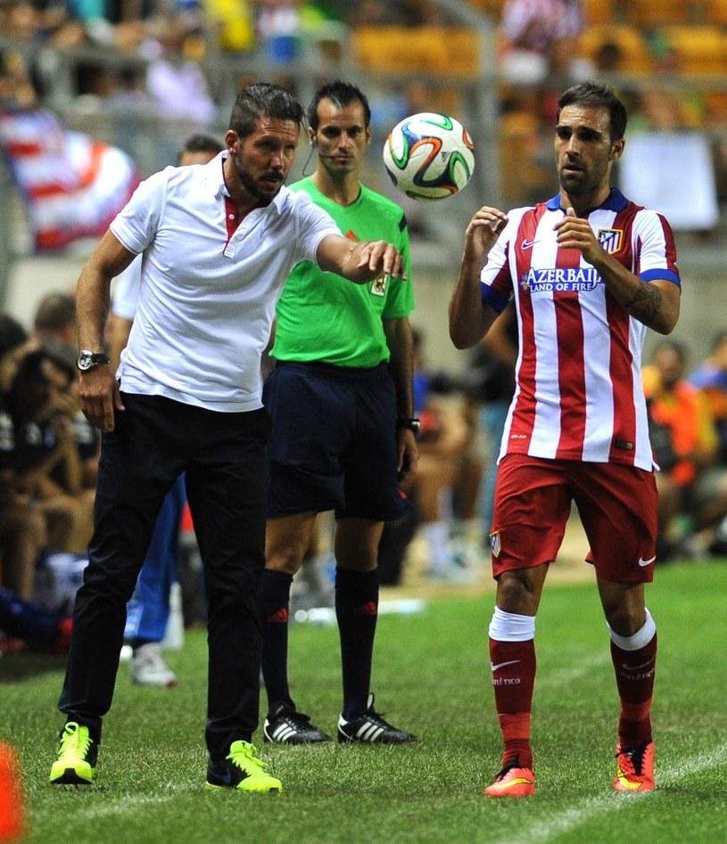 Trener Diego Simeone i Jesus Gamez /AFP