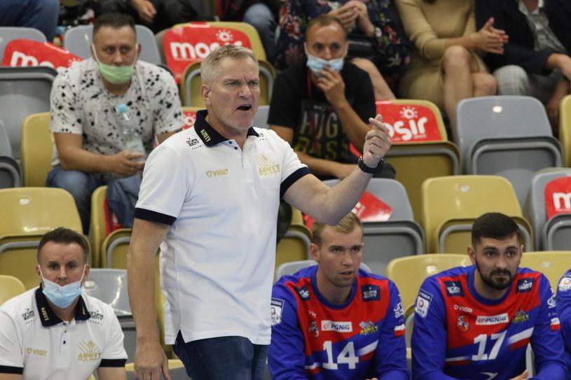 Trener drużyny Azoty Puławy Lars Walther /Krzysztof Świderski /PAP