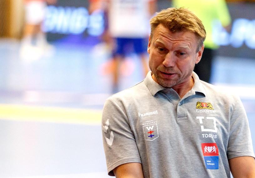 Trener drużyny Torus Wybrzeże Gdańsk Damian Wleklak /Andrzej  Grygiel /PAP