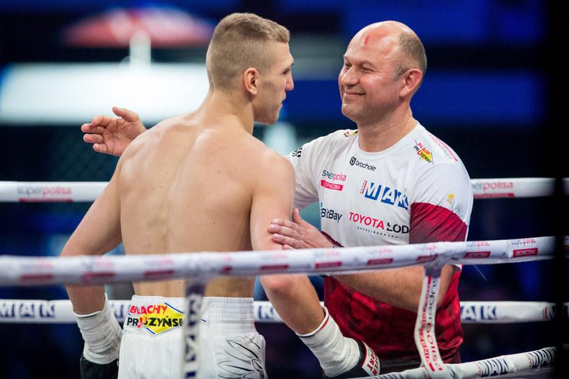 Trener Fiodor Łapin (z prawej) i jego nowa gwiazda: Fiodor Czerkaszyn /Andrzej Iwańczuk/Reporter /East News