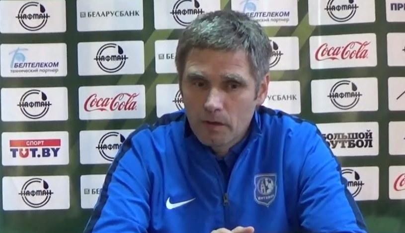 Trener FK Witebsk Siergiej Jasiński /INTERIA.PL
