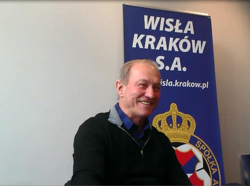 Trener Franciszek Smuda jest w dobrym nastroju. /Michał Białoński /INTERIA.PL