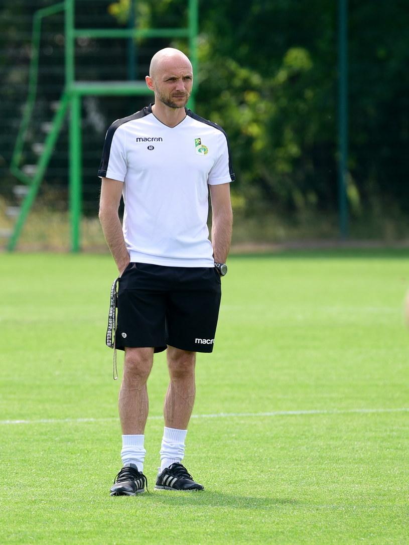Trener GKS-u Bełchatów Artur Derbin /Paweł Piotrowski /Newspix