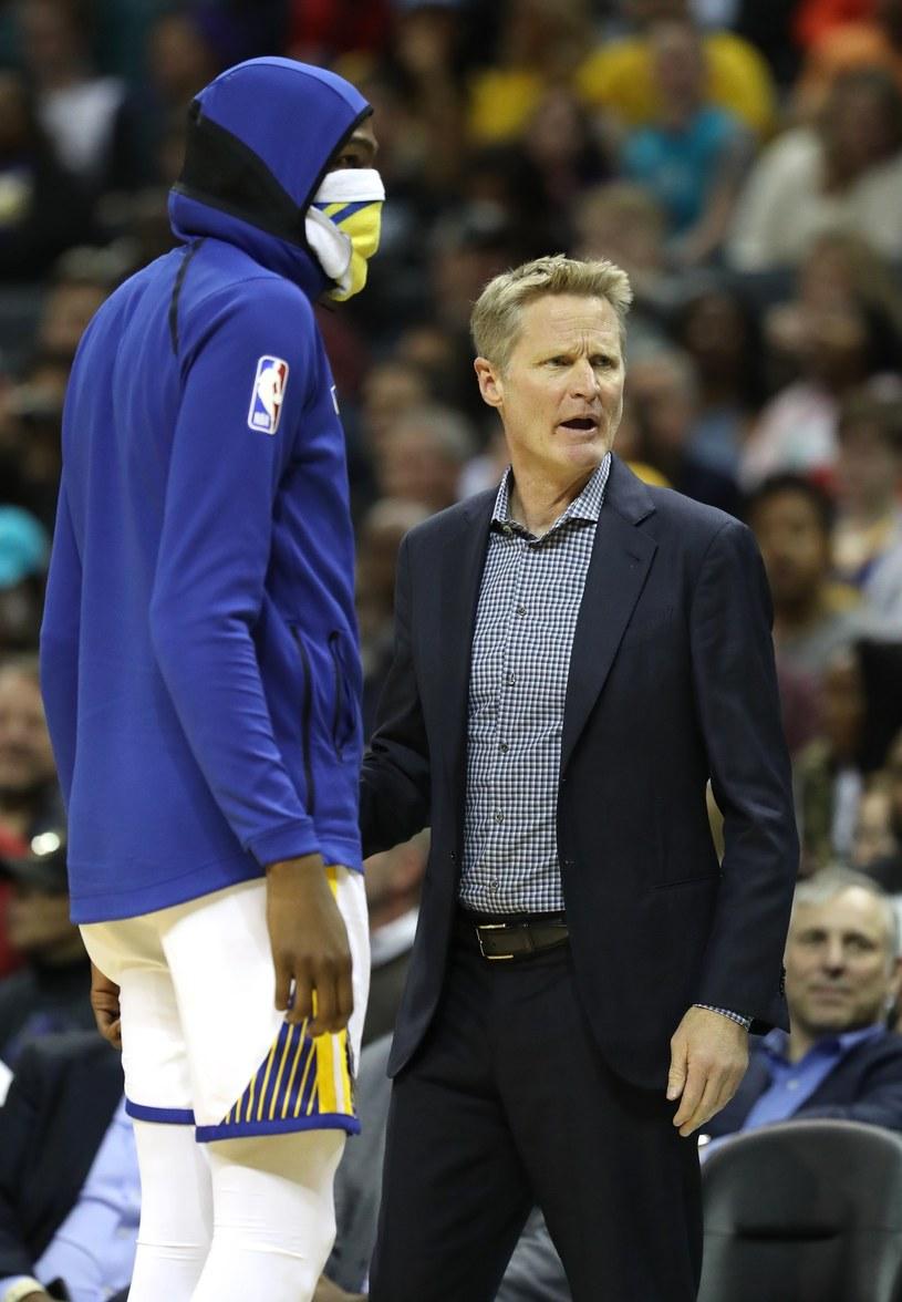 Trener Golden State Warriors Steve Kerr i Kevin Durant /AFP