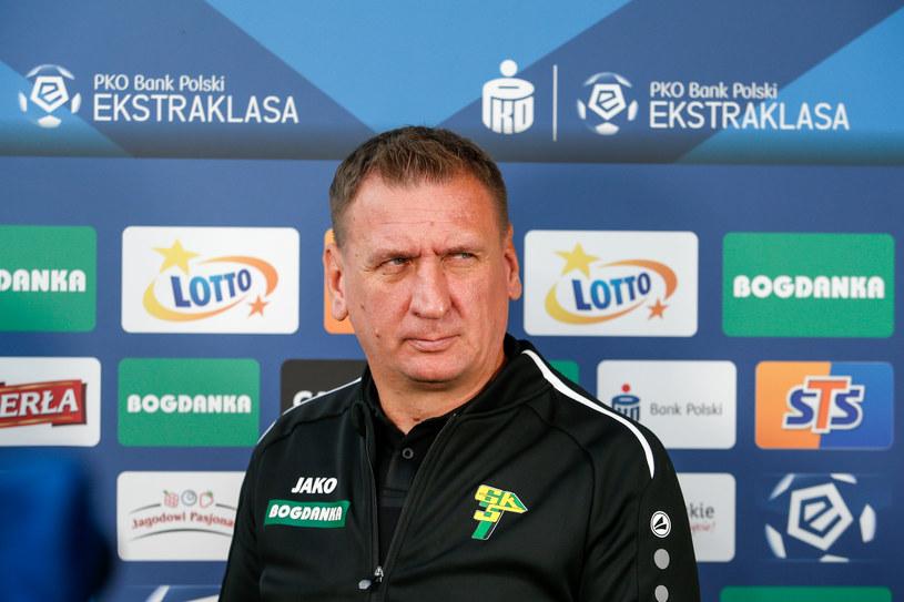 Trener Górnika Łęczna, Kamil Kiereś przed meczem z Lechią Gdańsk /GRZEGORZ RADTKE / 058sport.pl / NEWSPIX.PL /Newspix