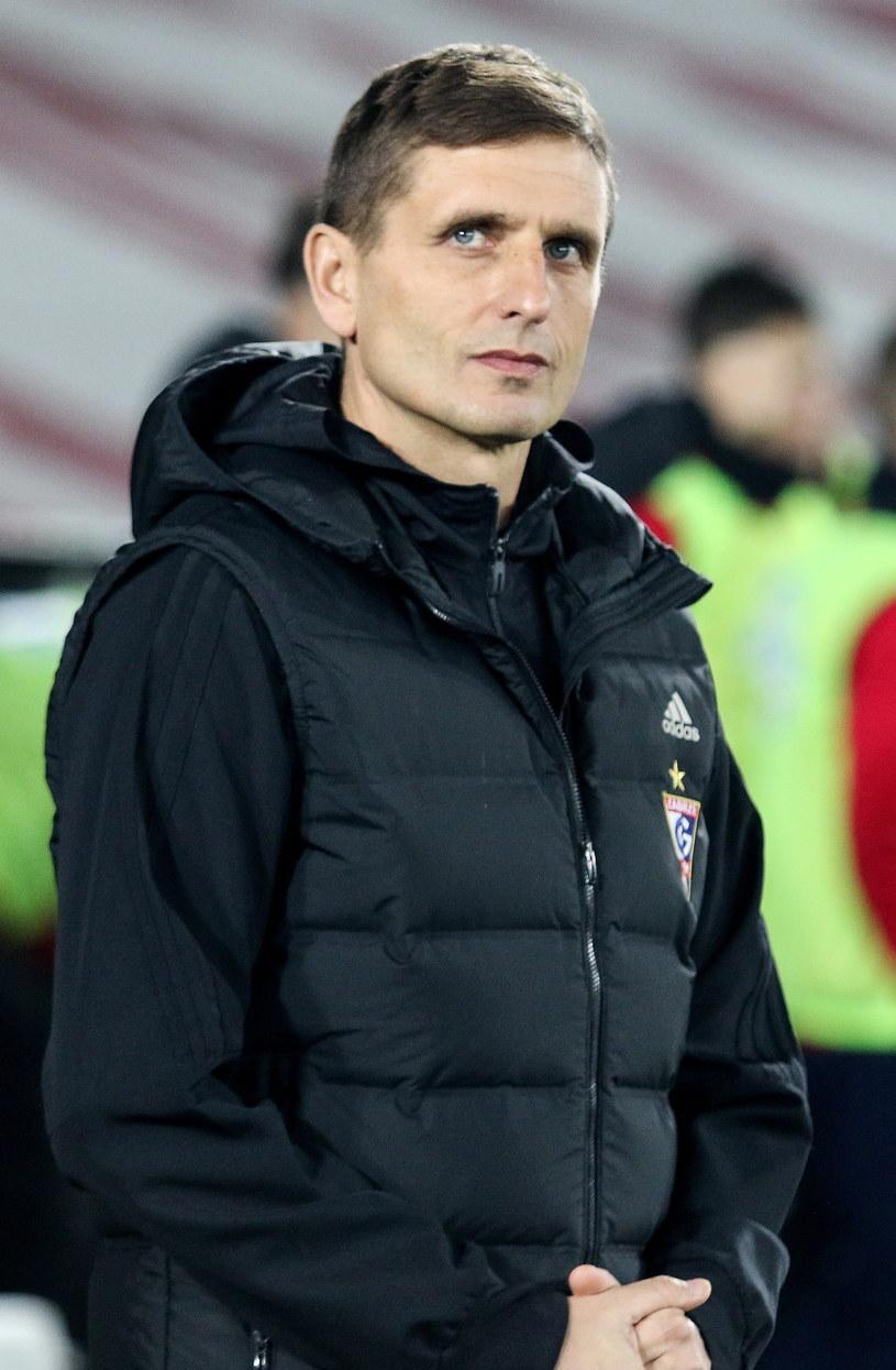 Trener Górnika Zabrze Marcin Brosz /Fot. Marek Zimny /PAP