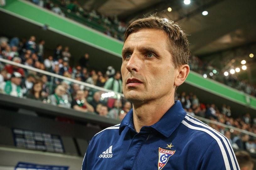 Trener Górnika Zabrze Marcin Brosz /fot. Kamil Piklikiewicz /East News