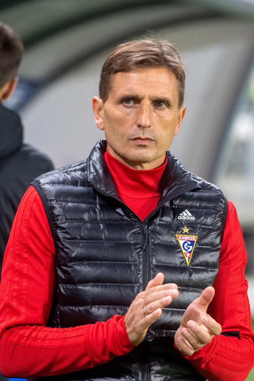 Trener Górnika Zabrze Marcin Brosz /Grzegorz Michałowski /PAP