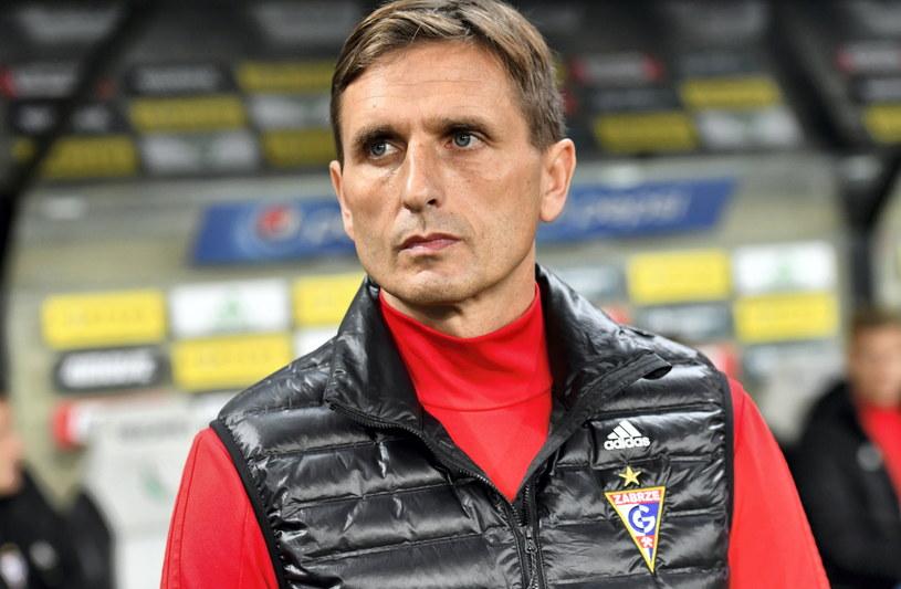 Trener Górnika Zabrze Marcin Brosz /Piotr Nowak /PAP