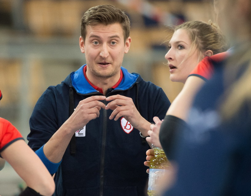 Trener Grotu Budowlanych Łódź Błażej Krzyształowicz /Grzegorz Michałowski /PAP