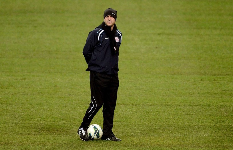 Trener gruzińskich piłkarzy Temur Kecbaja /AFP