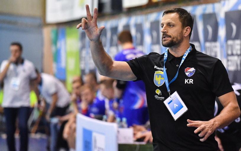 Trener Gwardi Opole Rafał Kuptel /Wojtek Jargiło /PAP